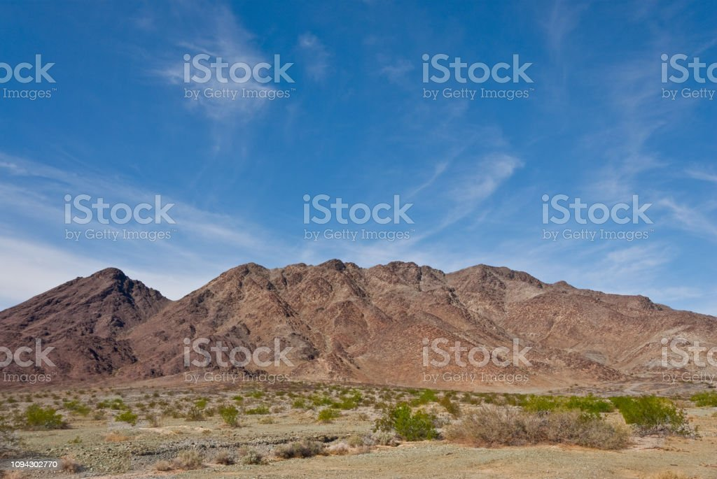 Mountains of the Sonoran Desert stock photo