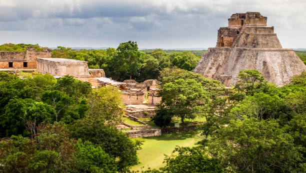 discovery mexico - uxmal - uxmal stock photos and pictures