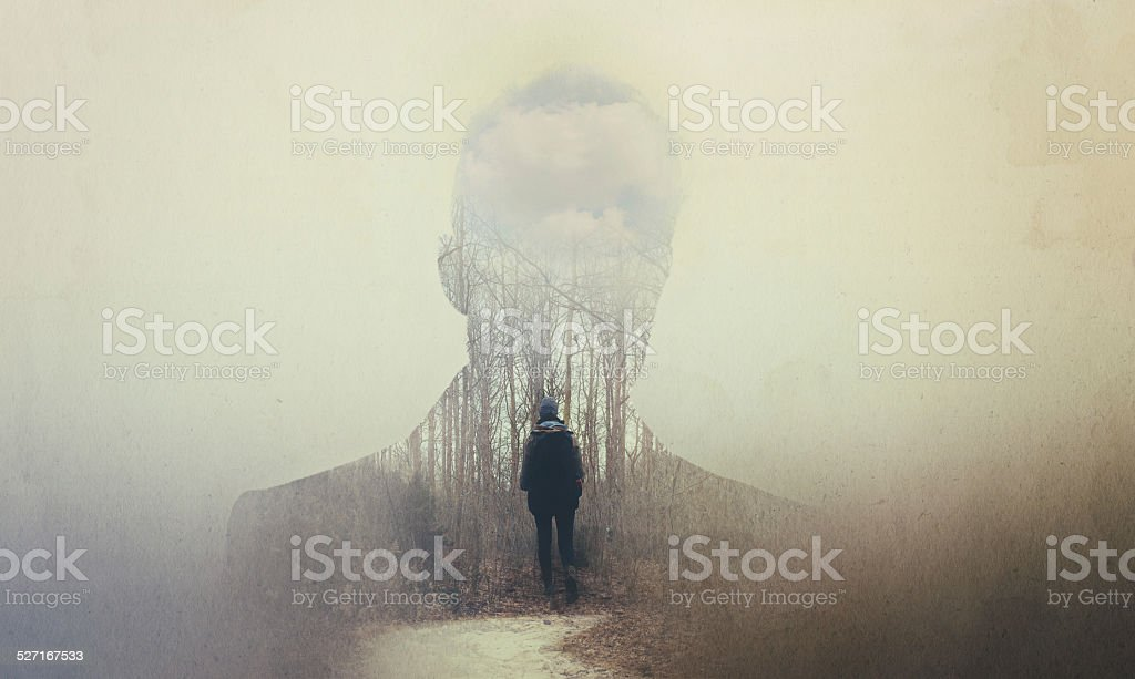 The soul seeks its own path stock photo