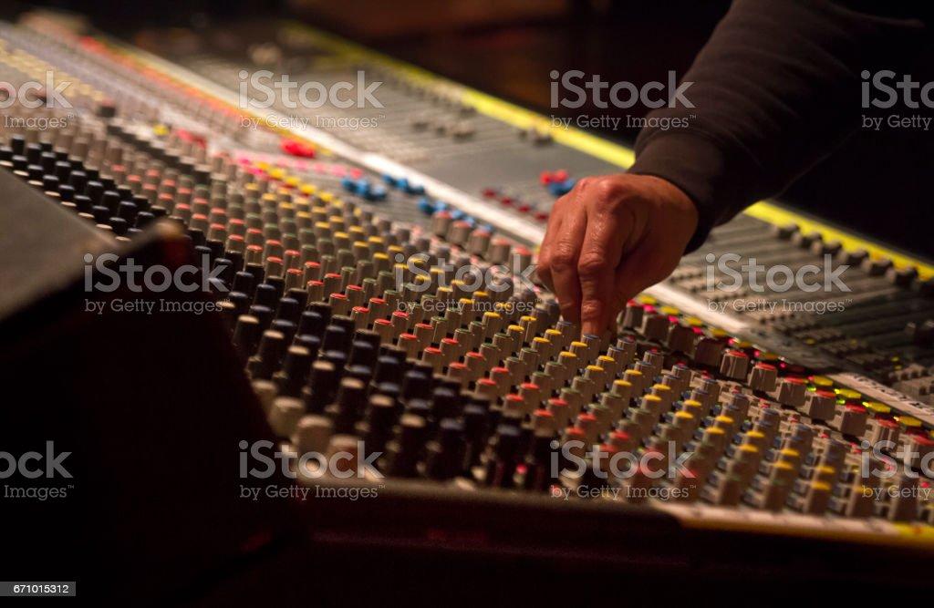 The sound engineer stock photo