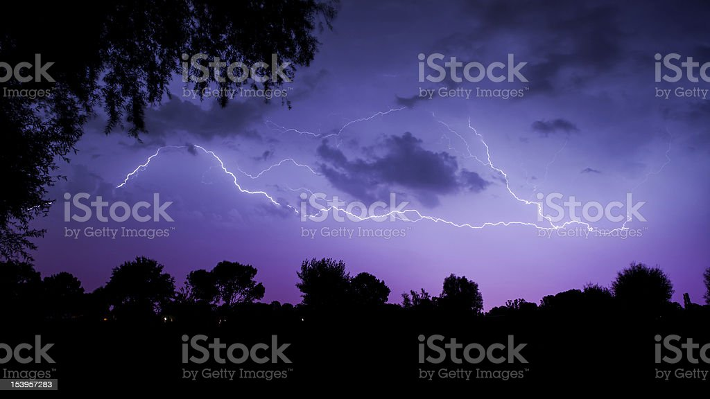 The Sound of Thunder stock photo