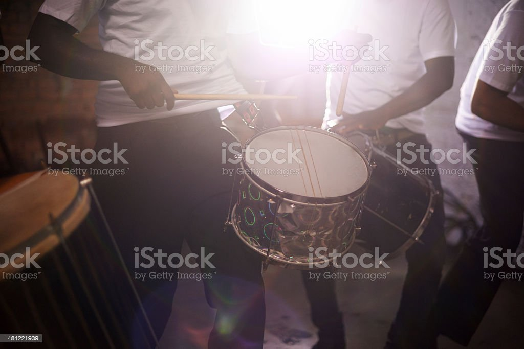 The sounds of perfect percussion stock photo