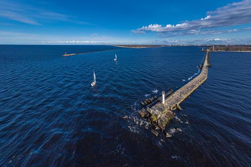 The source of the Daugava river flowing in the Baltic Sea near Riga, Latvia