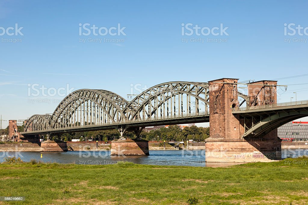 The South Bridge in Cologne, Germany stock photo