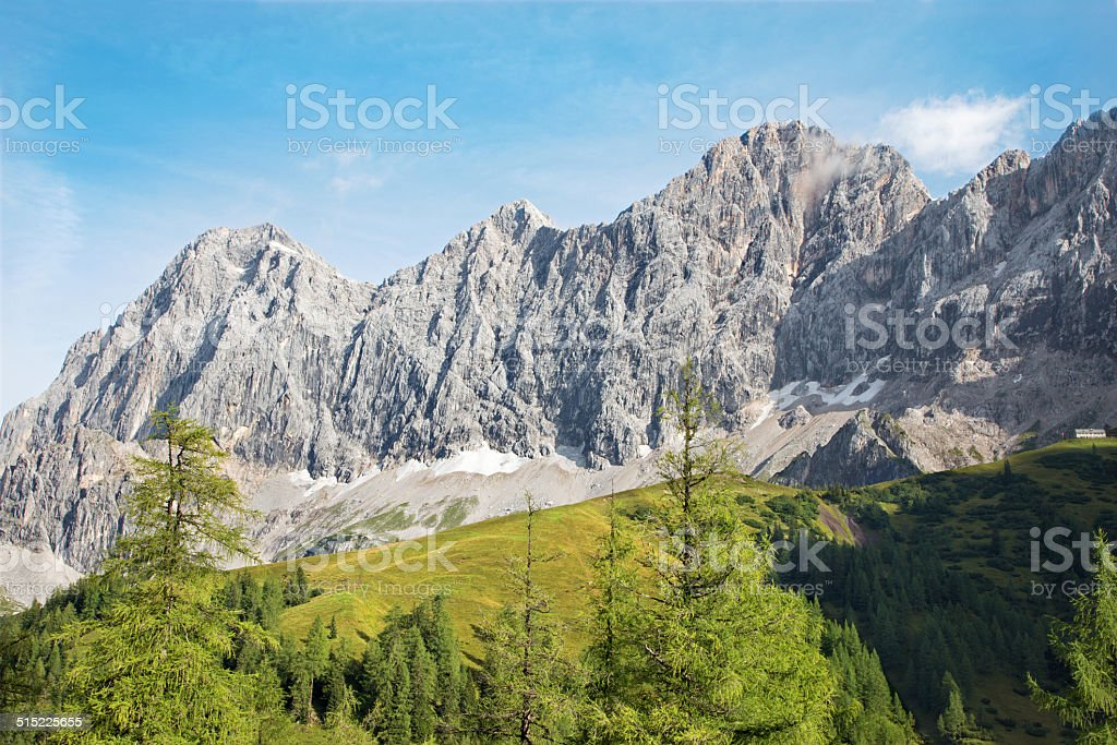 The south face of Dachstein massif - Austria stock photo