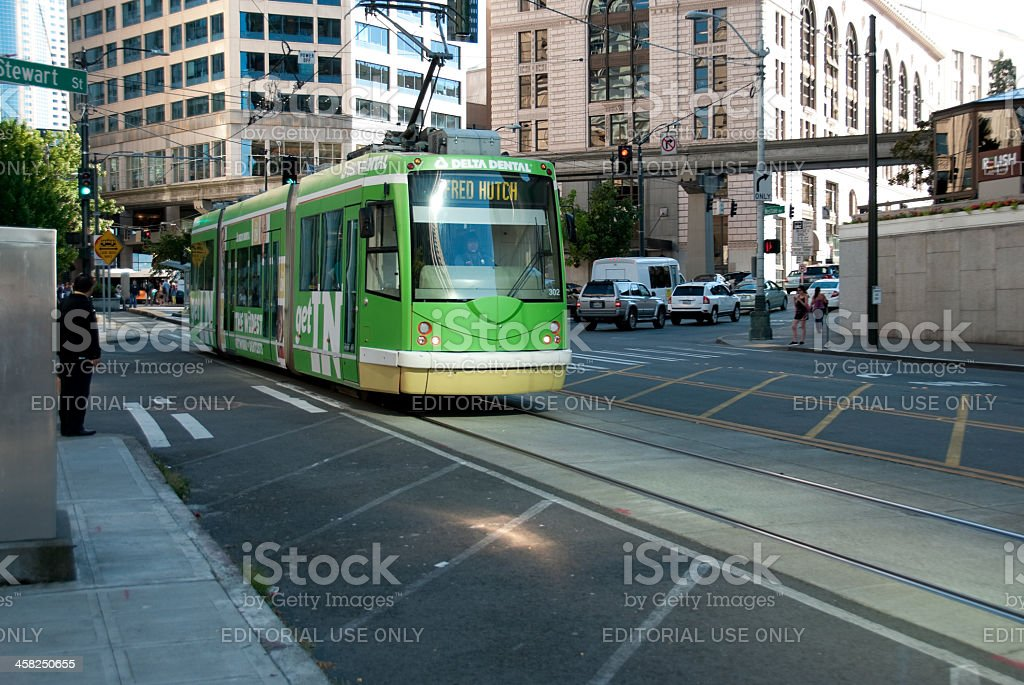 The South Lake Union Trolley royalty-free stock photo