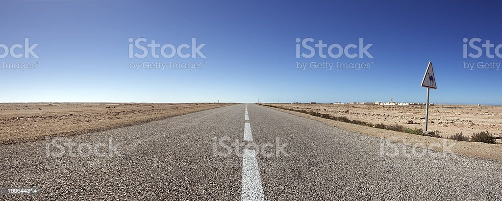 The south road in Morocco royalty-free stock photo