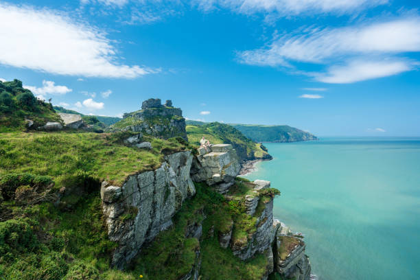 The South West Coast Path near Lynmouth stock photo