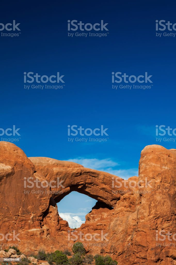 The South Window in Arches National Park, Utah, USA royalty-free stock photo