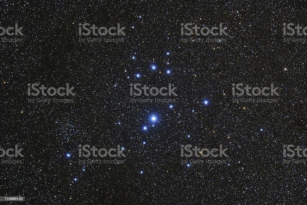 The Southern Pleiades royalty-free stock photo