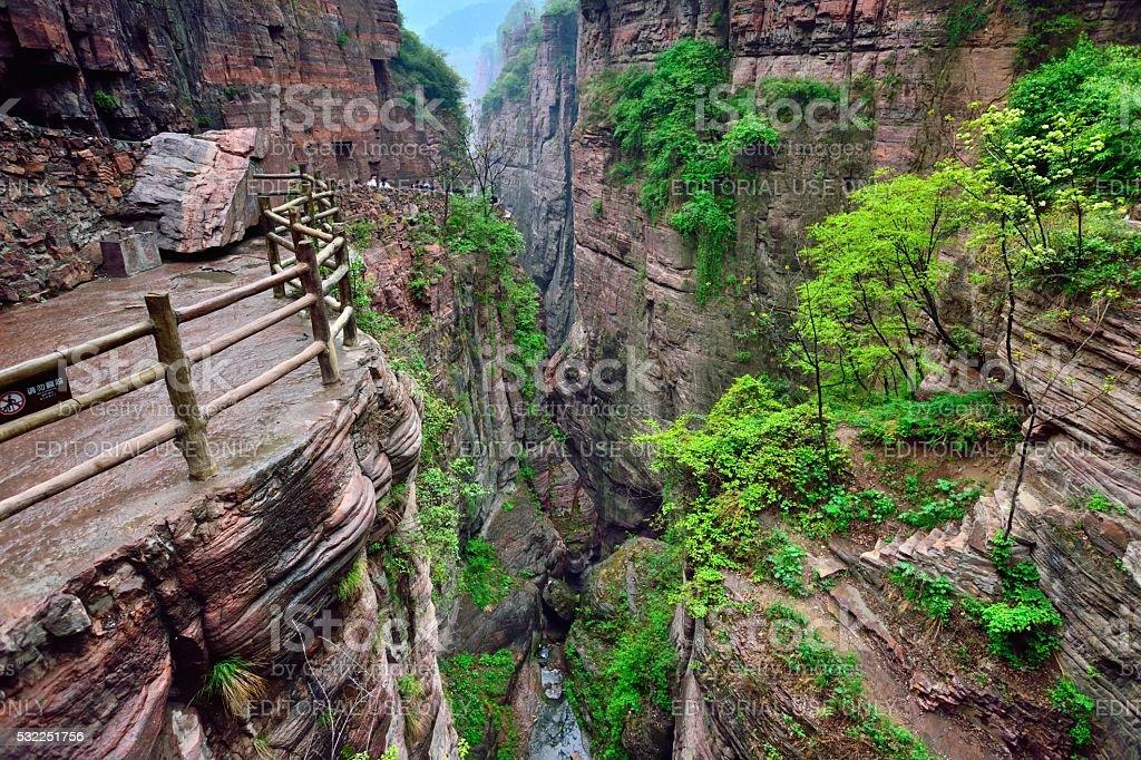 The Southern Taihang mountains Grand Canyon 06 stock photo