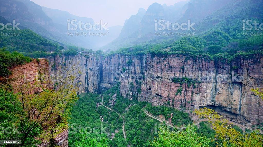 The Southern Taihang mountains Grand Canyon 09 stock photo