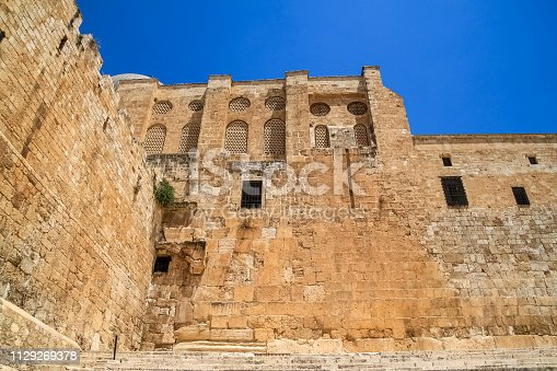 The Southern Temple Mount Wall at the Double Gate area in old city Jerusalem, Israel