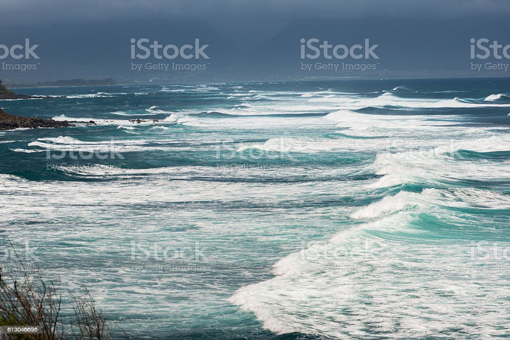 The southernmost point of the Big Island of Hawaii stock photo
