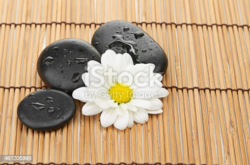 459851883 istock photo The spa a stone on bamboo background 461205995