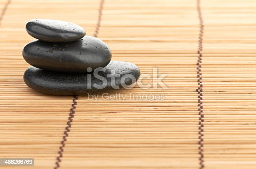 459851883 istock photo The spa a stone on bamboo background 466266769