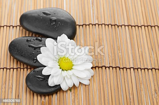 459851883 istock photo The spa a stone on bamboo background 466309765