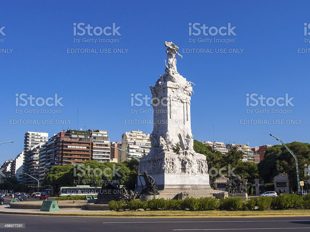 The Spaniards Monument stock photo
