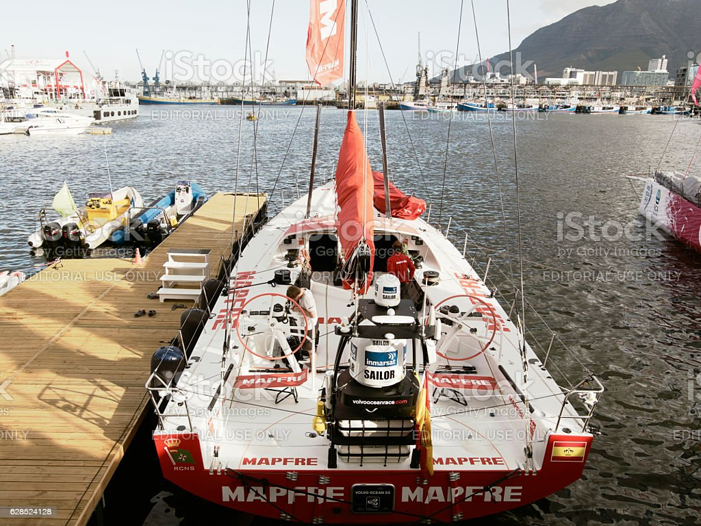 The Spanish Boat Mapfre in Cape Town, South Africa. stock photo