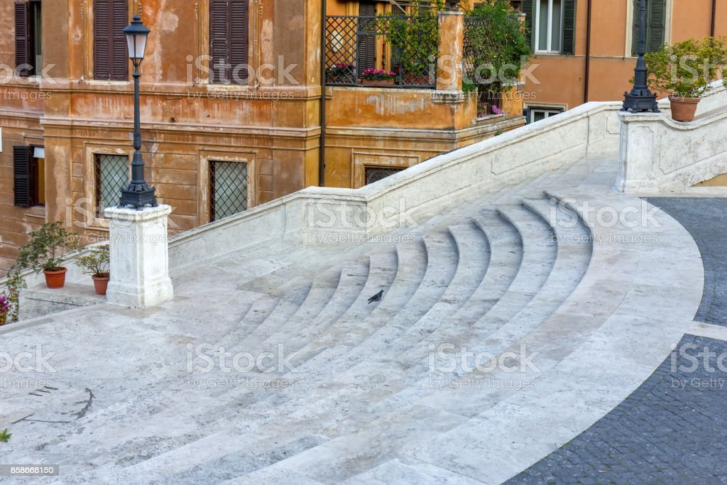The Spanish Steps in Rome. Italy. stock photo