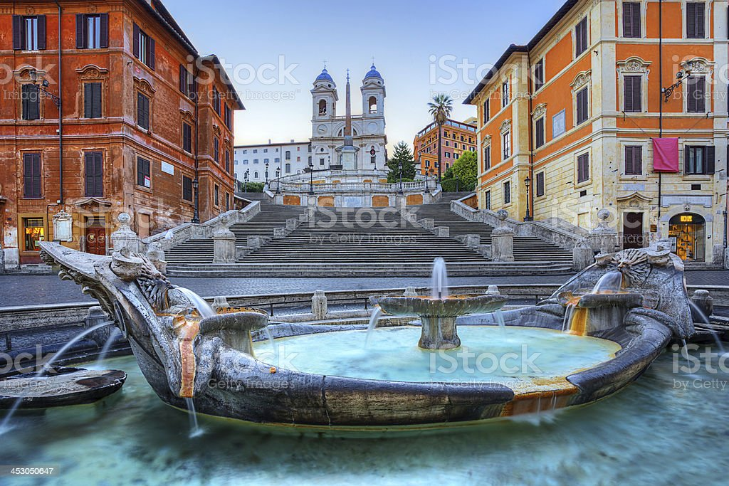The Spanish Steps in Rome stock photo