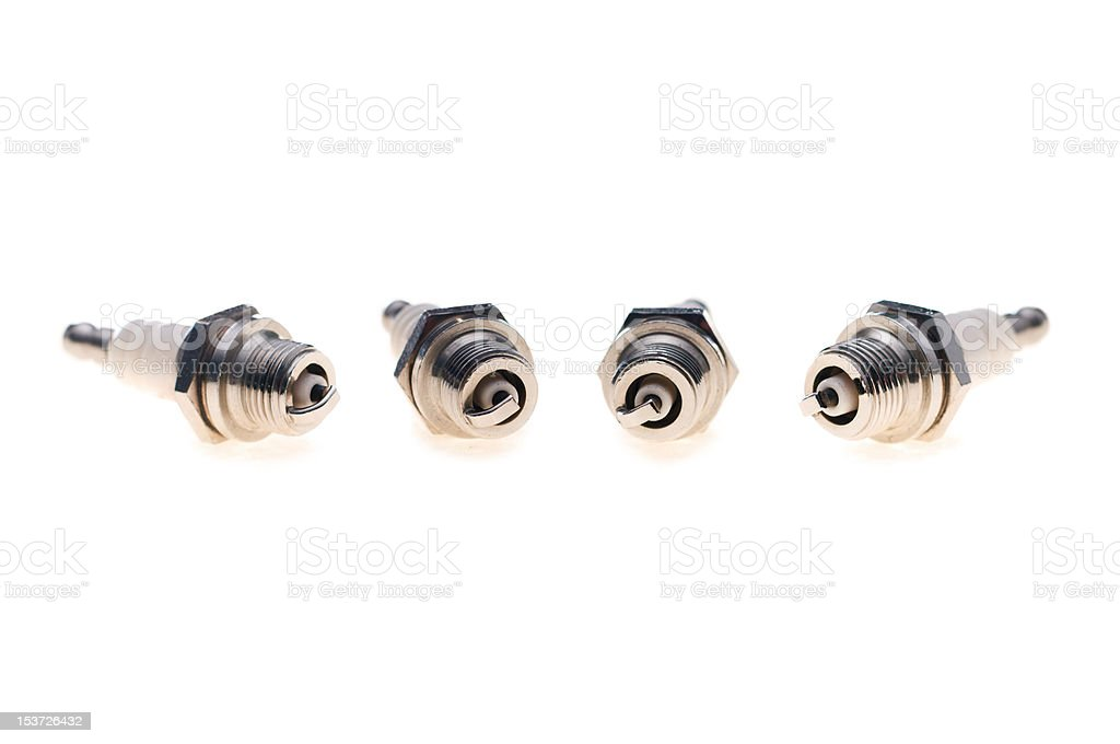 The spark plugs royalty-free stock photo