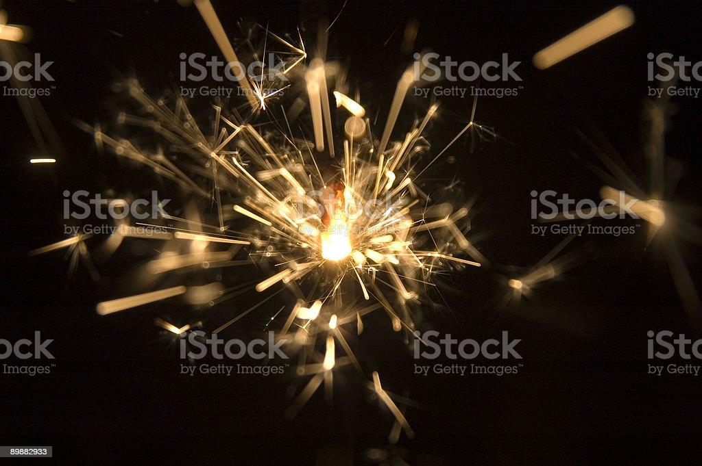 The Sparkler royalty-free stock photo