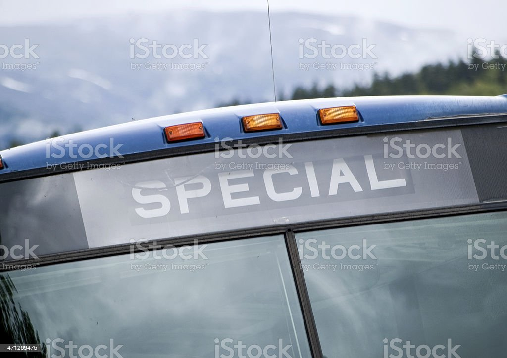 the Special Bus royalty-free stock photo