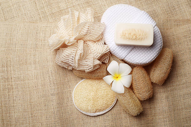 Limpiador especial en el spa de jabón para sana de la piel - foto de stock