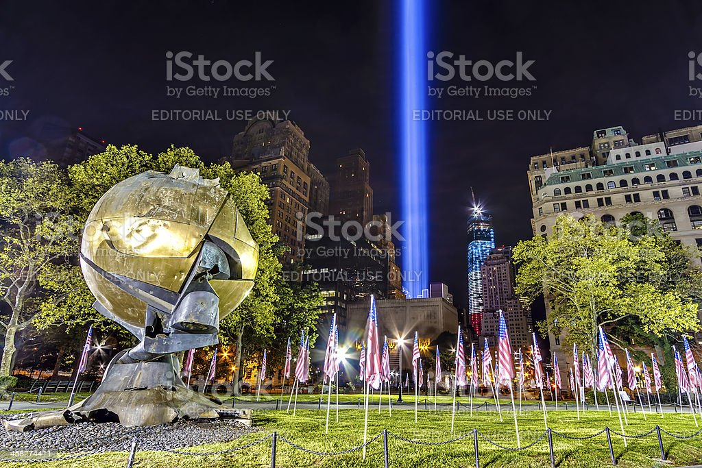 The Sphere in NYC royalty-free stock photo