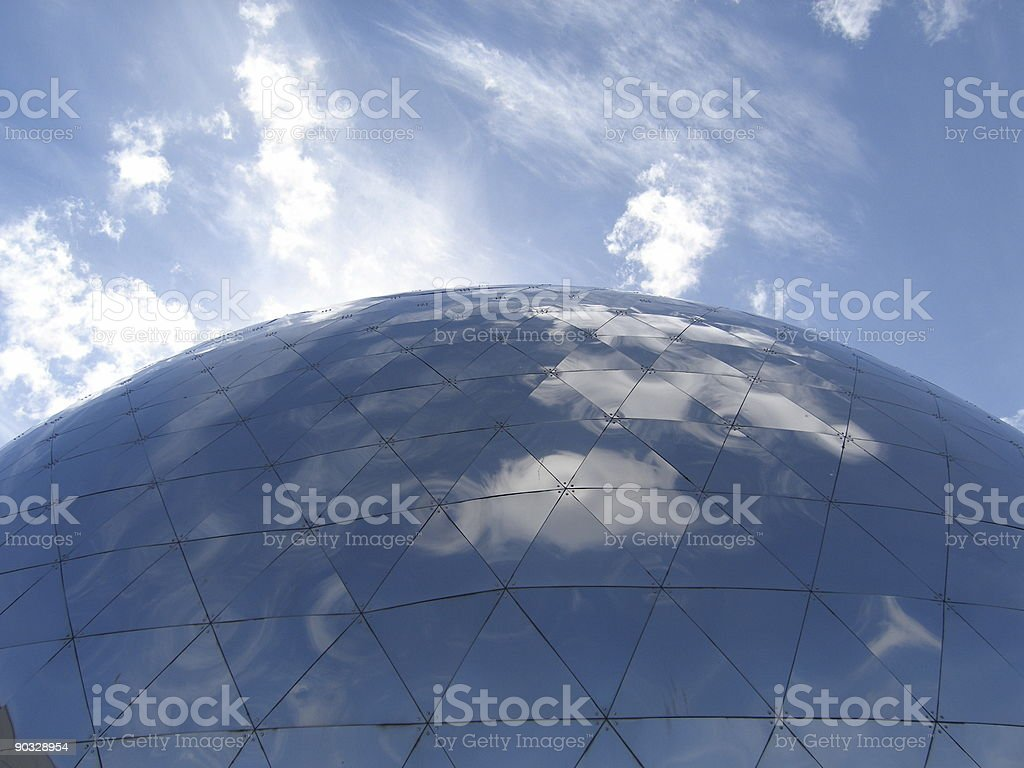 The sphere located at the Botanical Gardens royalty-free stock photo