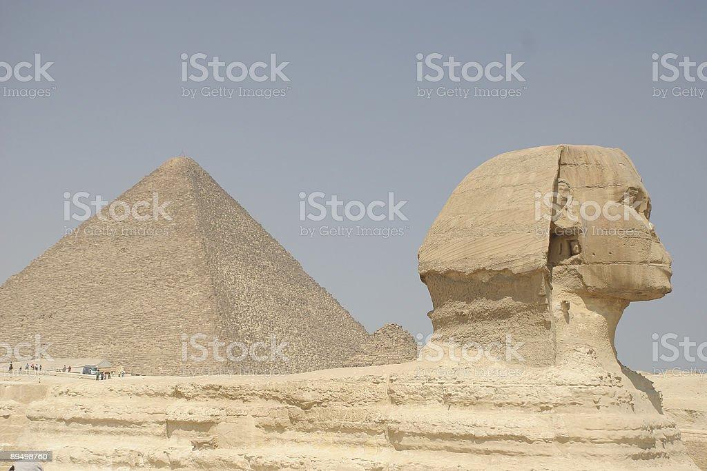 Sfinks i piramidy Khufu's zbiór zdjęć royalty-free