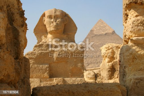 istock The Sphinx and Pyramid of Khafre, Giza Egypt 157192504