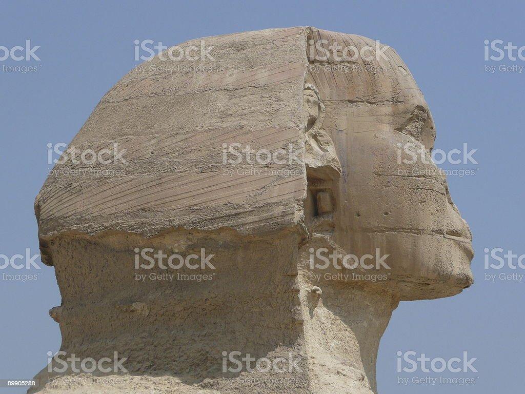 The sphinx closeup stock photo