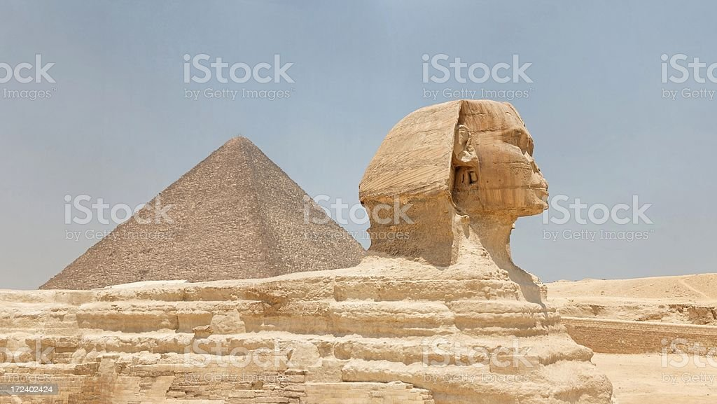 The Sphinx in Giza royalty-free stock photo