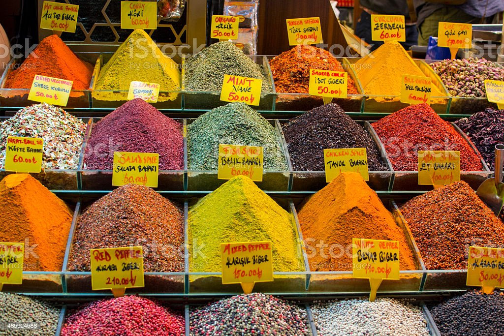 The Spice Bazaar in Istanbul, Turkey stock photo