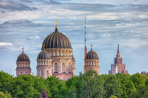 The spiers and towers of Riga