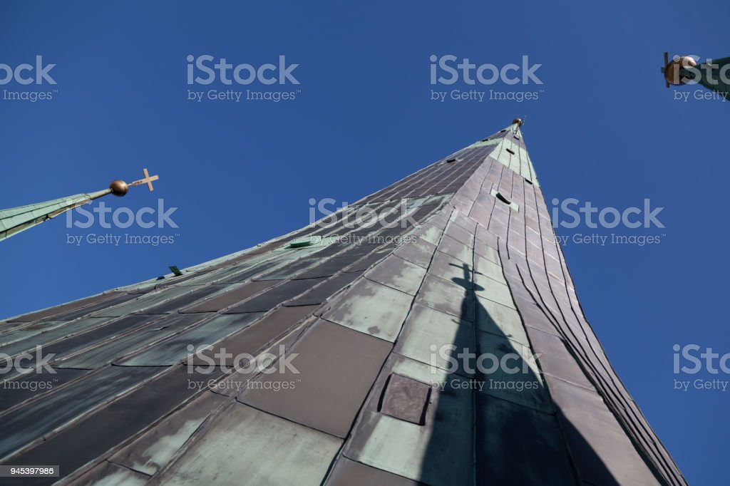 The Spire of the St. Olaf Church stock photo