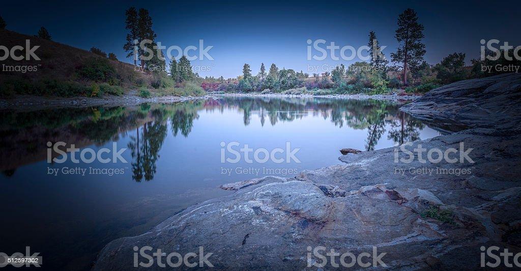 The Spokane River Centennial Trail stock photo