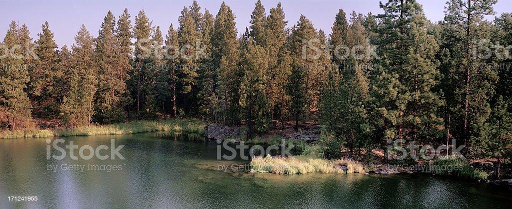 The Spokane River, Post Falls, Idaho, United States - Royalty-free Color Image Stock Photo