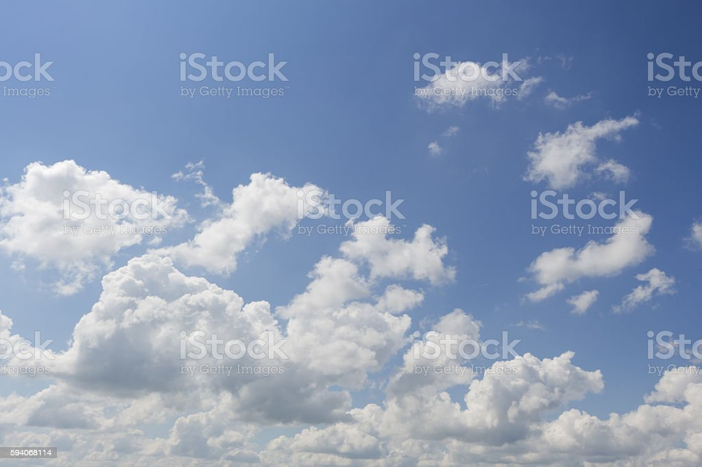 The spring sky in the village. stock photo