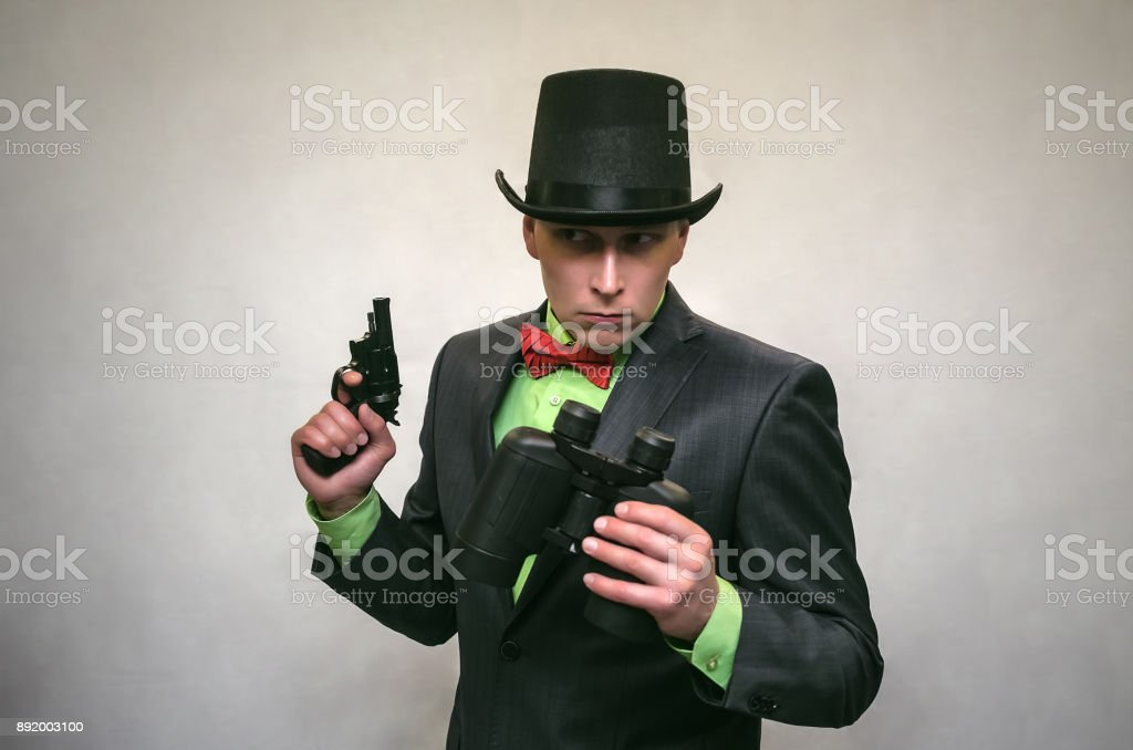 the spy secret service retro gangster stock photo more pictures of