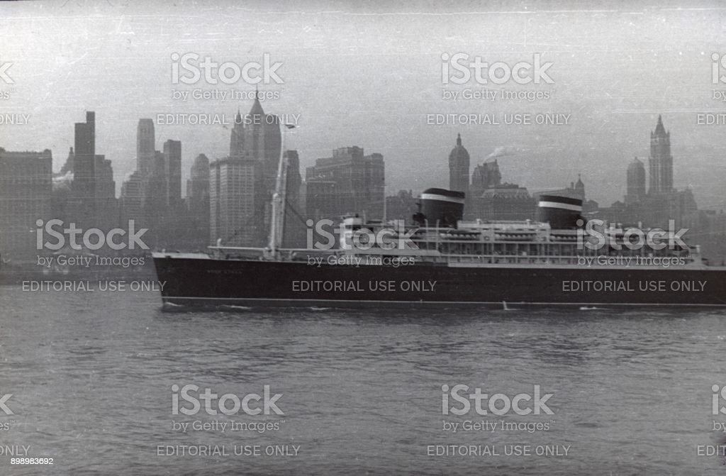 The SS United States, 1951 stock photo