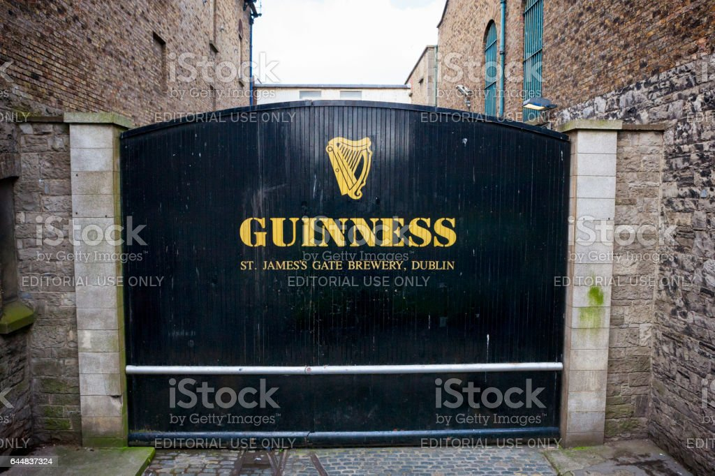 The St. James's Gate at Guinness Brewery in Dublin, Ireland