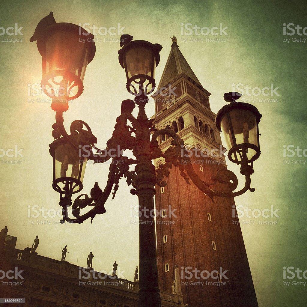 The St. Mark's Campanile in Venice, Italy royalty-free stock photo