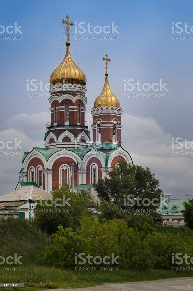The St Nicholas Russian On a summer day stock photo