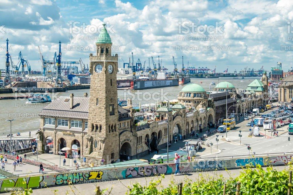 St. Pauli Landungsbrucken, are one of Hamburg\'s major tourist...