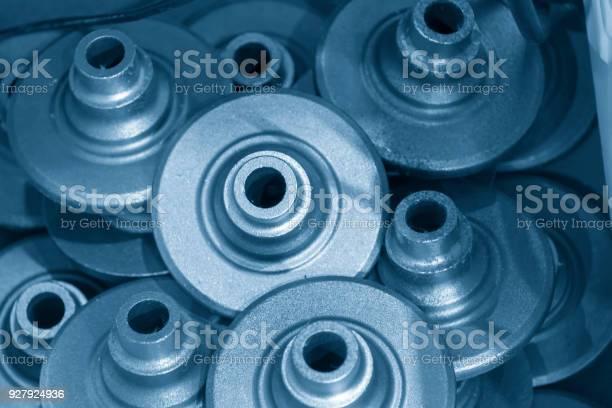 Die Stapel Von Automobilguss Teil Stockfoto und mehr Bilder von Gießerei