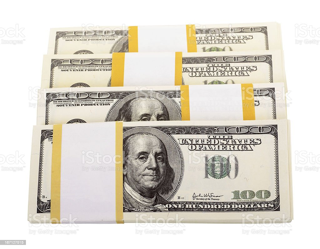 The stack of dollars royalty-free stock photo