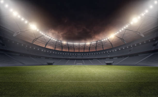 the stadium - soccer field stock photos and pictures